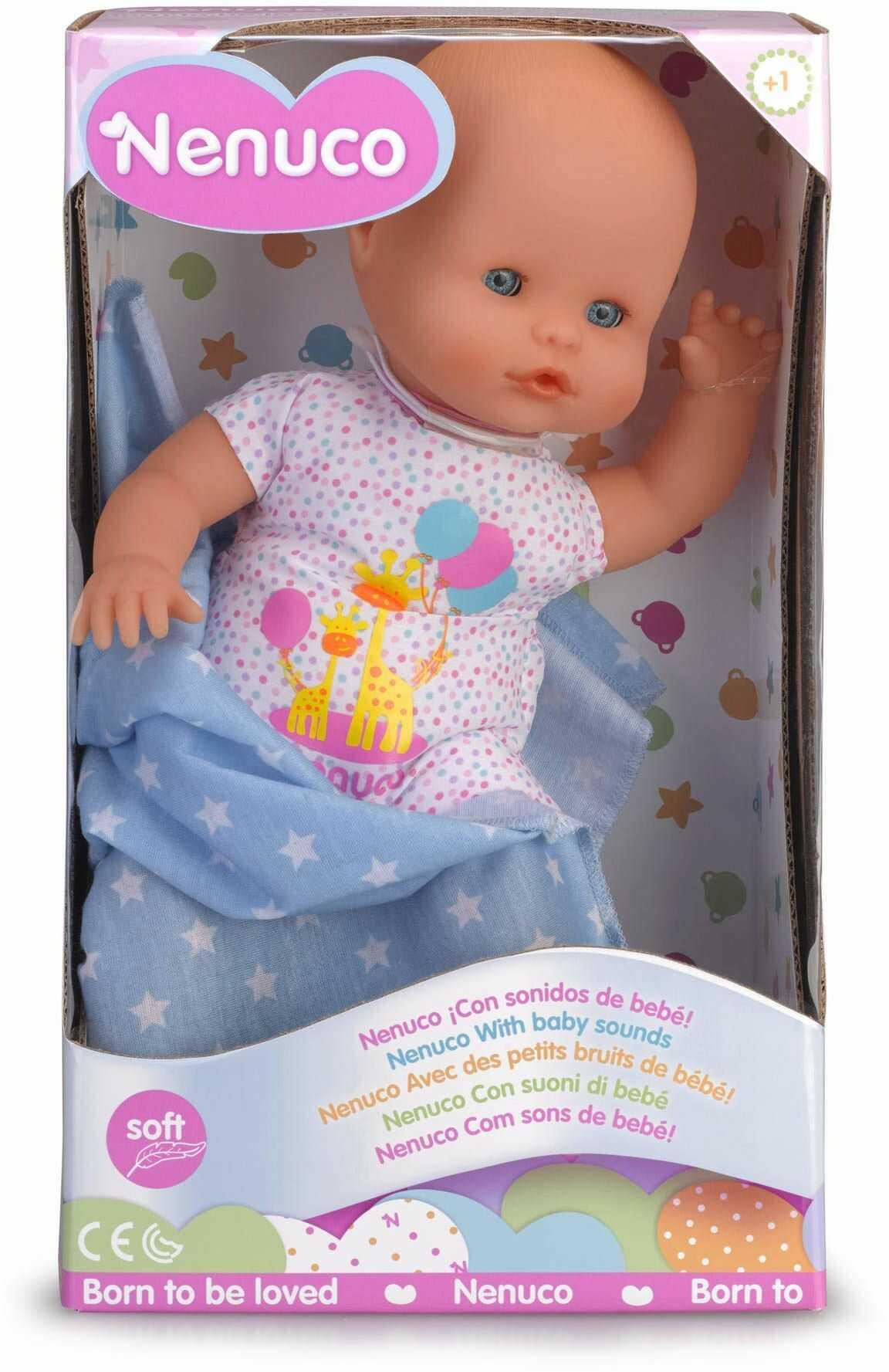 Nenuco  lalka dla niemowląt z dźwiękami niemowlęcia dla dzieci w wieku od 1 do 3 lat (700015452)