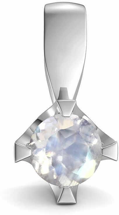 Kuźnia Srebra - Zawieszka srebrna, 14mm, Kamień Księżycowy, 1g, model