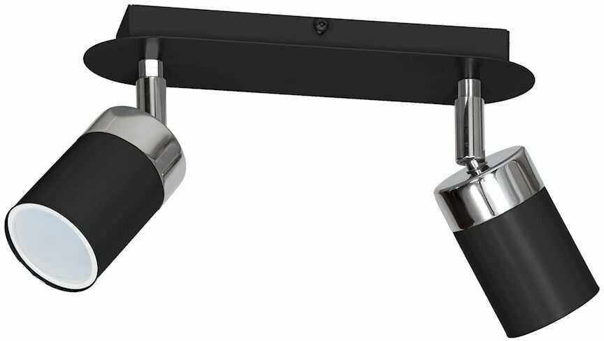 Milagro JOKER BLACK MLP911 oprawa natynkowa metal czarna 2xGU10 36cm