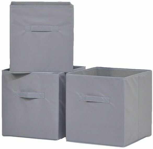 Pudełko 31 x 34 x 33 cm szare 3 szt.