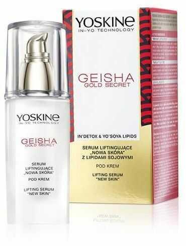 """Yoskine Geisha Gold Secret Serum liftingujące """"Nowa Skóra"""" pod krem 30ml"""