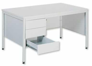 Metalowe biurko lekarskie 031 z 3 szufladami