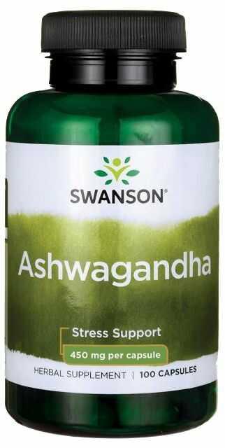 Ashwagandha 450 mg (100 kaps) Żeń-Szeń Indyjski Swanson