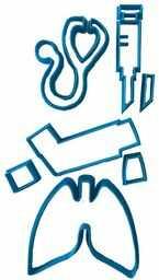 cuticuter Doctor foremka do wycinania masy cukrowej, niebieska, 16 x 14 x 1,5 cm