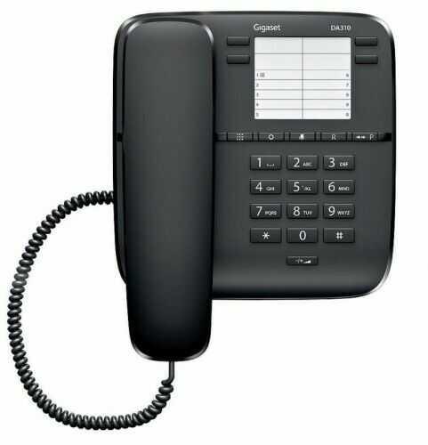 DA310 Gigaset Telefon przewodowy CZARNY