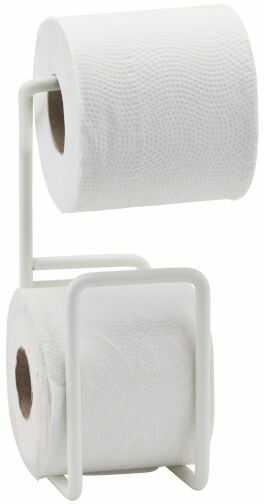 House Doctor VIA Uchwyt na Papier Toaletowy z Miejscem na Zapasową Rolkę - Biały