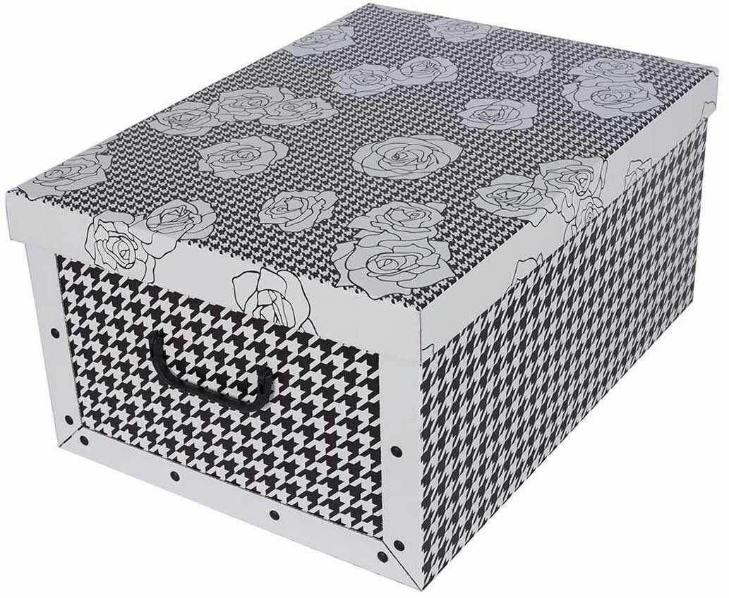 Pudełko kartonowe MAXI PEPITKA - CZARNA W RÓŻE