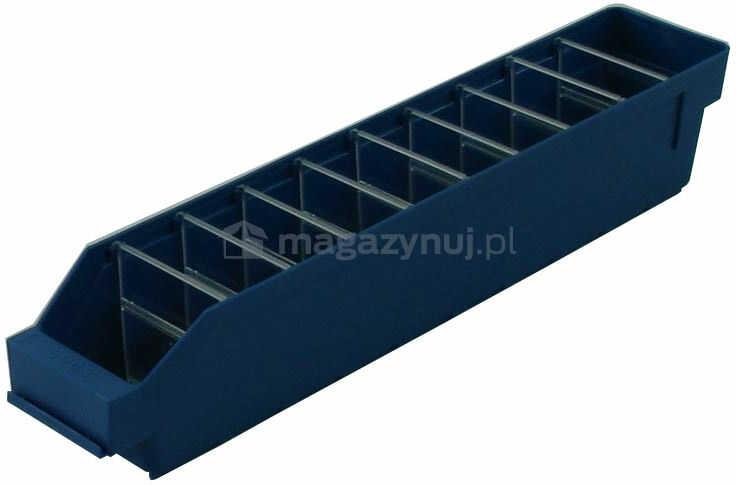 Pojemnik plastikowy warsztatowy z przekładkami. Wym: 500x90x95mm