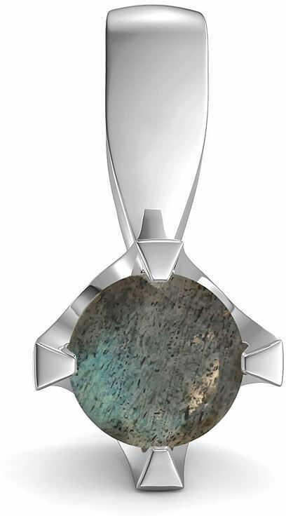 Kuźnia Srebra - Zawieszka srebrna, 14mm, Labradoryt, 1g, model