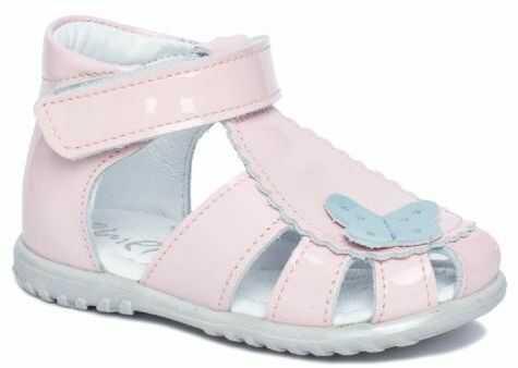 EMEL E2183-12 sandałki sandały profilaktyczne ROCZKI dziewczęce - lakierki różowe