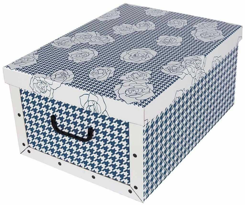 Pudełko kartonowe MAXI PEPITKA - NIEBIESKA W RÓŻE