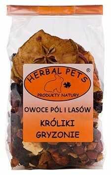 Owoce pól i lasów króliki gryzonie 100 g