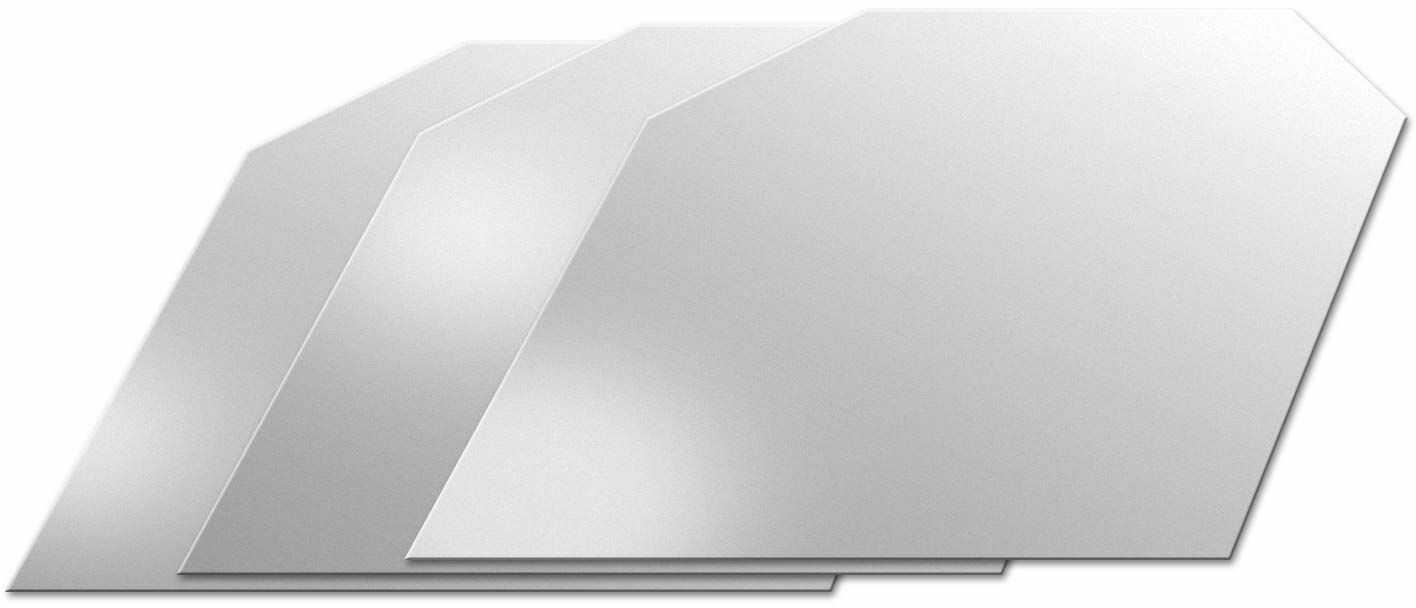 FMprofessional 3 nalewaki Anti-Drop z polietylenu, srebrny, 50 x 50 x 20 cm, 3 sztuki