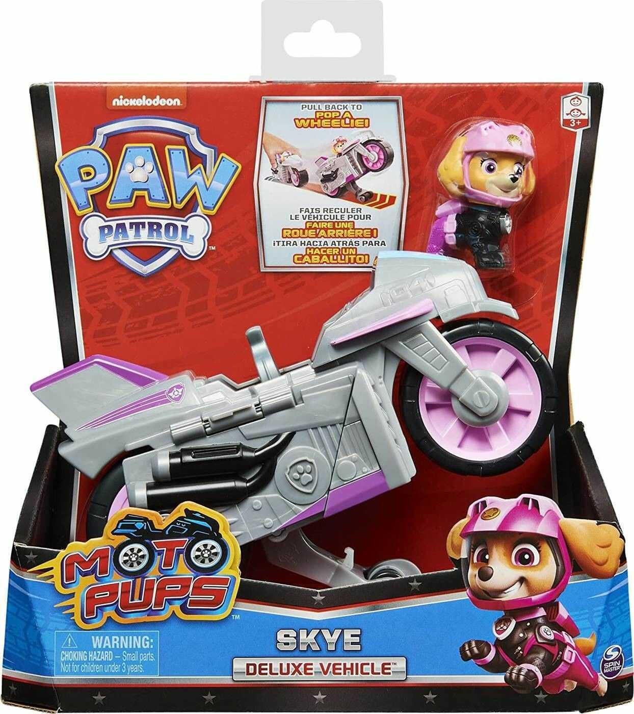 SPIN MASTER Psi Patrol Moto Pups Motocykl i figurka Skye 20127786