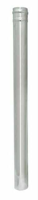 Rura 1-ścienna Spiroflex nierdzewna 80 mm