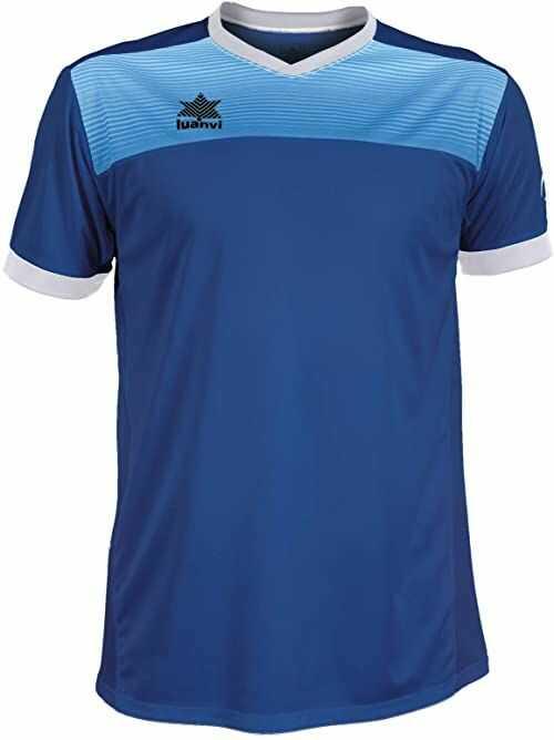 Luanvi Bolton męska koszulka tenisowa z krótkimi rękawami. niebieski niebieski 4XS