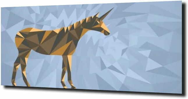 obraz na szkle, panel szklany Jednorożec 3d