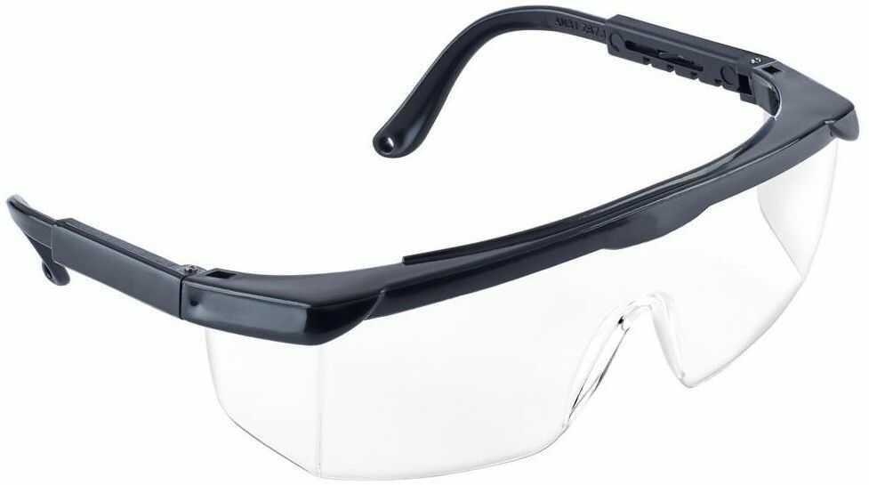 Okulary ochronne z poliwęglanu HF110 LUMINEX SILBET