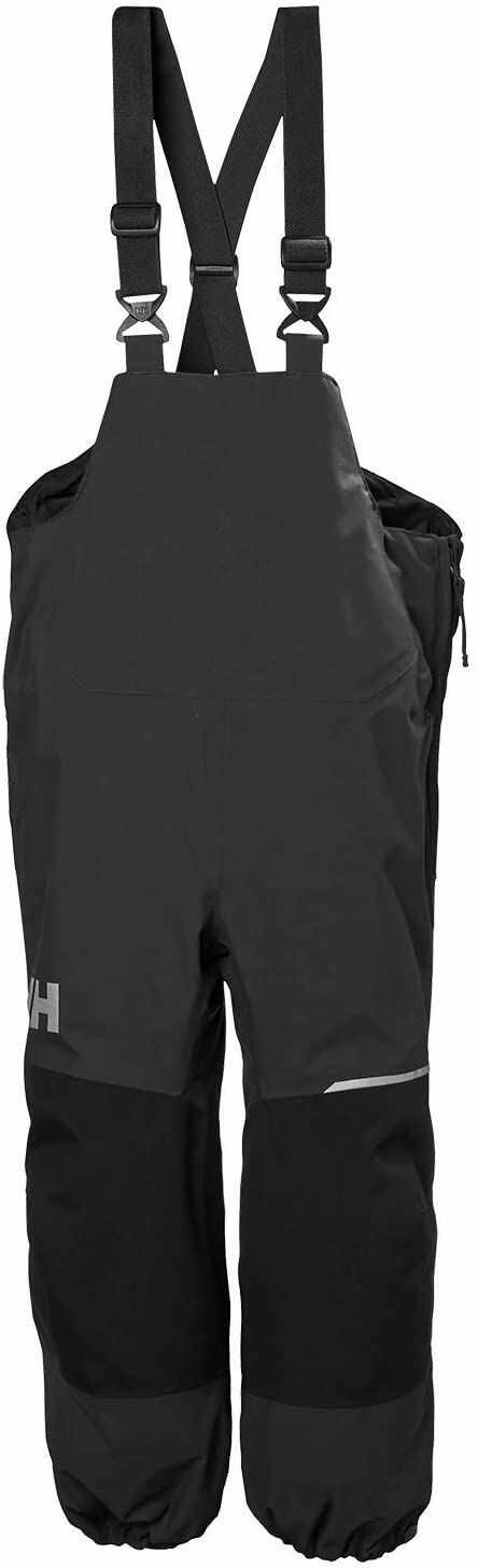 Helly Hansen Juniors Shelter 2 wodoodporne oddychające spodnie na szelkach, hebany, rozmiar 2