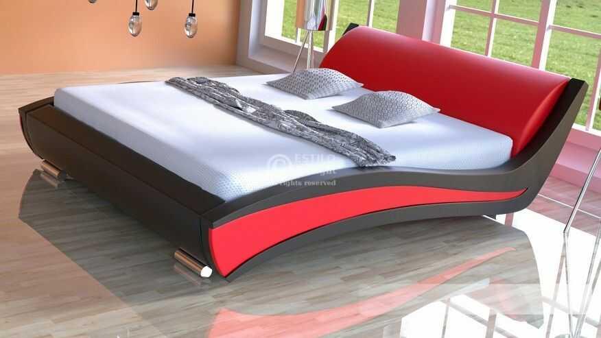 Łóżko do sypialni Samba - skóra naturalna