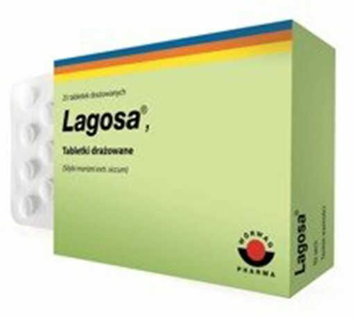 Lagosa tabletki drażowane 0,15 g 25 drażetek
