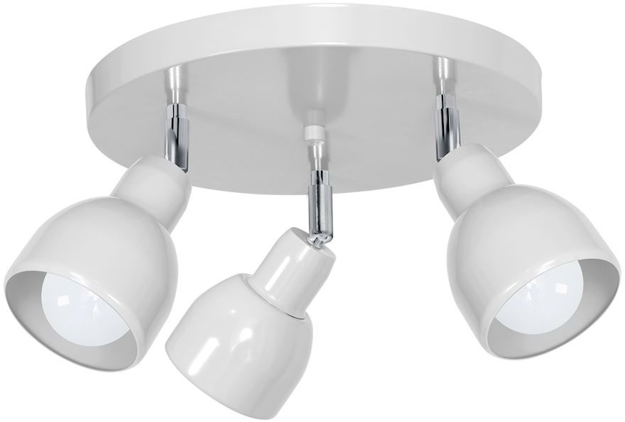 Milagro PIK WHITE MLP9682 plafon lampa sufitowa metal biały głowice ruchome 3xE27 20cm