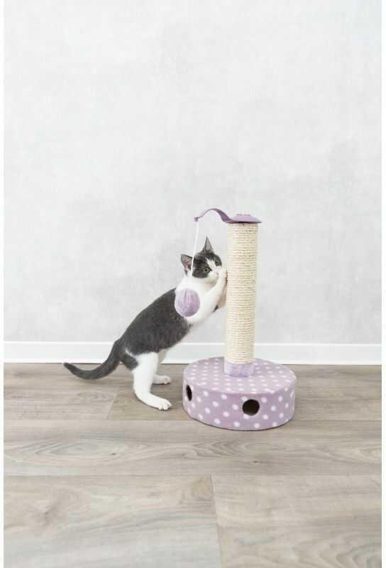 Drapak stojący Junior, flausz, 26  47 cm, liliowy