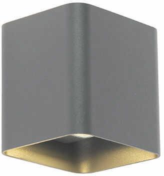 QAZQA Nowoczesny kinkiet kwadratowy antracyt LED - Evi