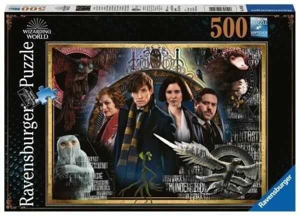 Puzzle Ravensburger 500 - Hary Potter, Zbrodnie Grindelwalda, The Crimes of Grindelwald