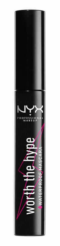 NYX Professional Makeup - WORTH THE HYPE - WATERPROOF MASCARA - Wodoodporny, pogrubiająco-wydłużający tusz do rzęs - 01