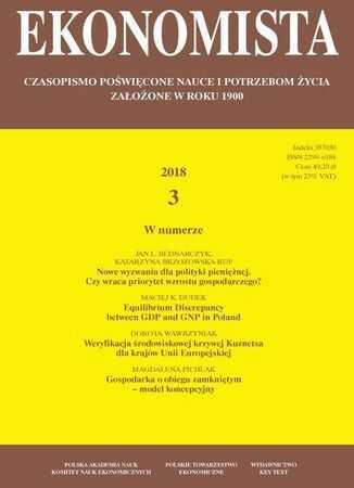 Ekonomista 2018 nr 3 - Ebook.