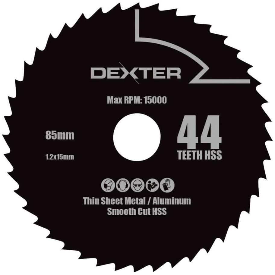 Tarcza do cięcia Metalu HSS 85x15 mm 44T DEXTER