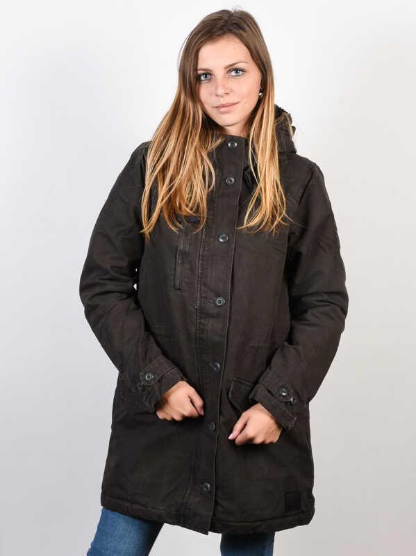 RVCA GROUND CONTROL PIRATE BLACK kurtka zimowa kobiety - L