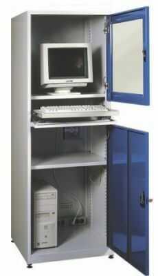 Metalowa ochronna szafka do komputera przemysłowego SMK1a