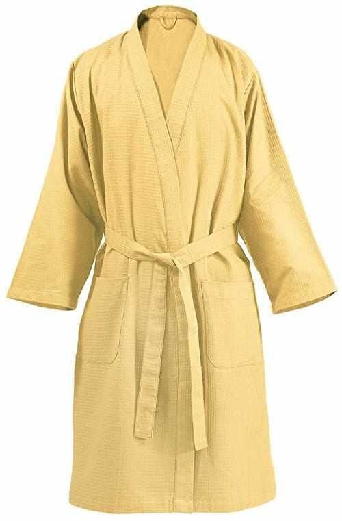 One Couture Płaszcz kąpielowy, żółty, duży