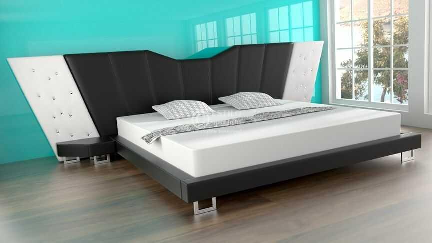 Łóżko do sypialni EFEZ - skóra naturalna