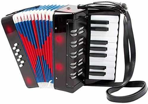 """small foot 3304 akordeon """"Classic"""", instrument muzyczny dla dzieci, z paskiem na ramię do wygodnego gry, od 3 lat"""
