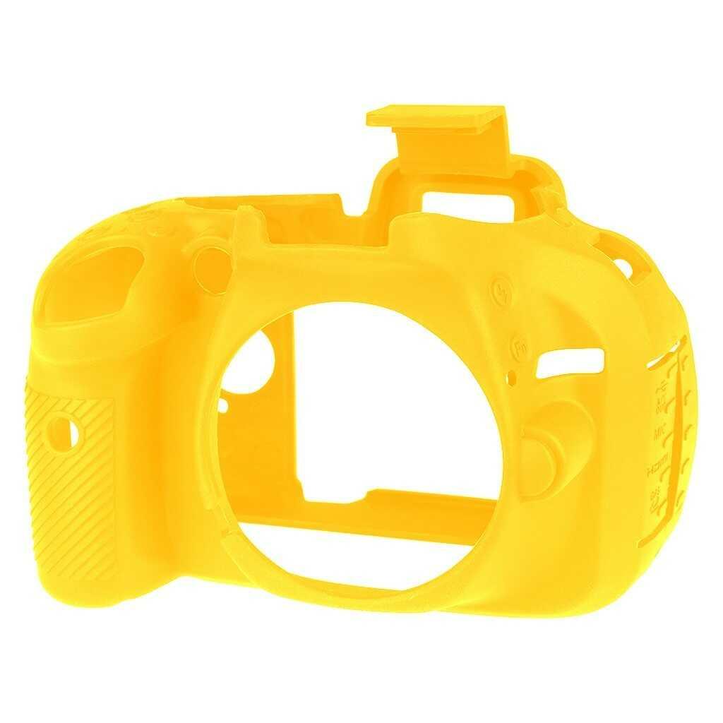 Osłona silikonowa easyCover do aparatu Nikon D5200 żółta