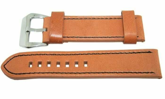 Pasek DILOY 24mm brązowy, 384.24.3.1