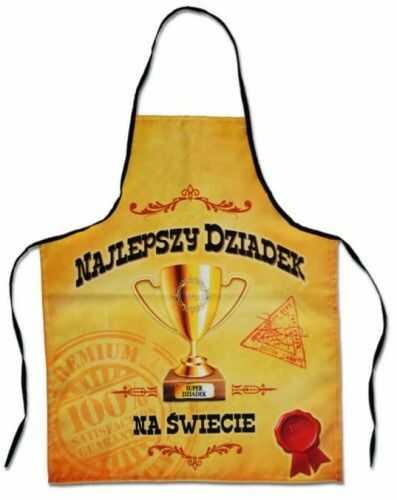 Fartuszek z nadrukiem Premium, Najlepszy Dziadek - Puchar