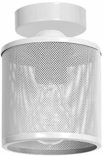 Milagro LOUISE WHITE MLP653 plafon lampa sufitowa klosz metalowa siatka biała 1xE27 18cm