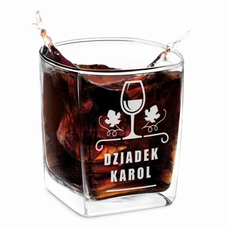 Szklanka do Whisky Grawer dla Dziadka
