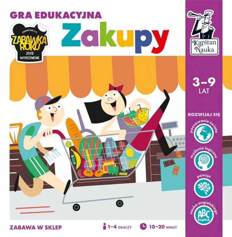 Kapitan Nauka Zakupy Gra edukacyjna ZAKŁADKA DO KSIĄŻEK GRATIS DO KAŻDEGO ZAMÓWIENIA
