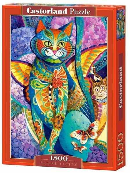 Puzzle 1500 Kocia fiesta CASTOR - Castorland