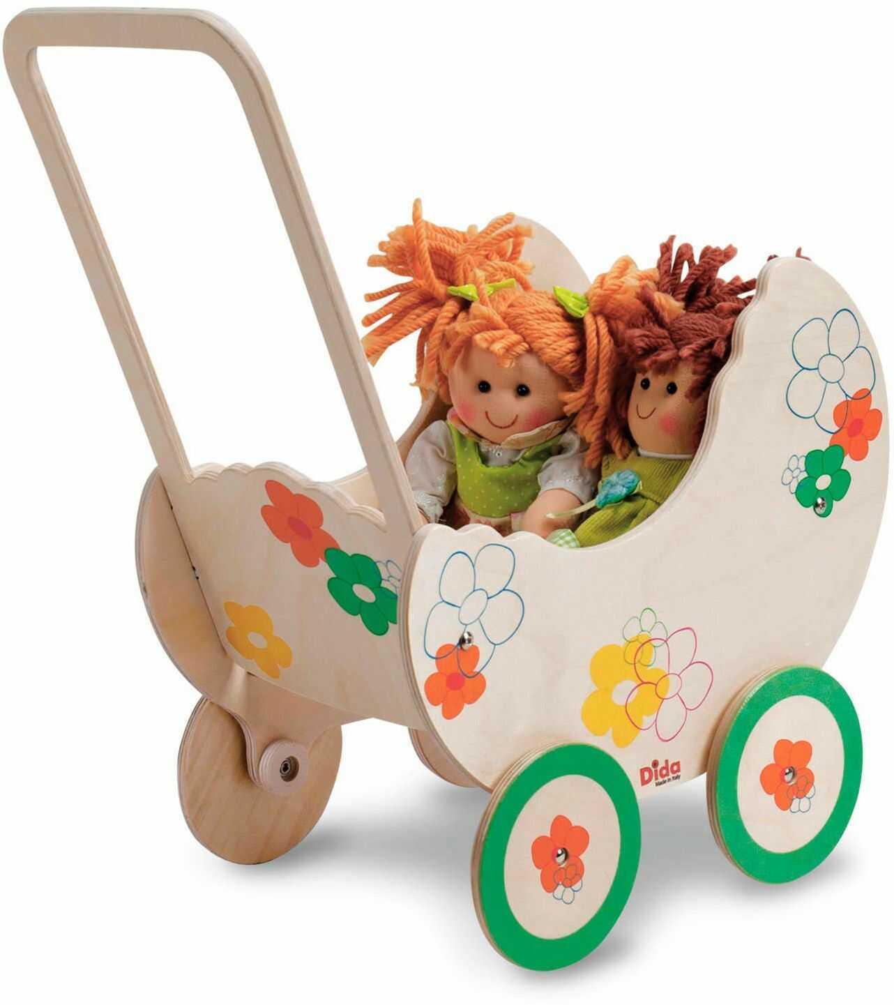 Dida GP19F pedagogiczny wózek dla lalek, wózek dziecięcy Fiore, mały