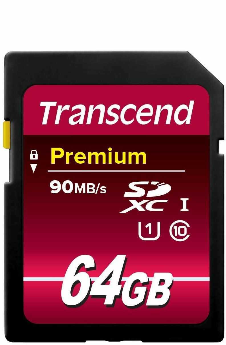 Transcend TS16GSDU1 Karta Pamięci UHS-I Klasa 10 64GB Czarna