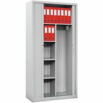 Metalowa szafa aktowa do biura z drzwiami żaluzjowymi Sbm 219 m