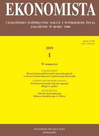 Ekonomista 2010 nr 1 - Ebook.