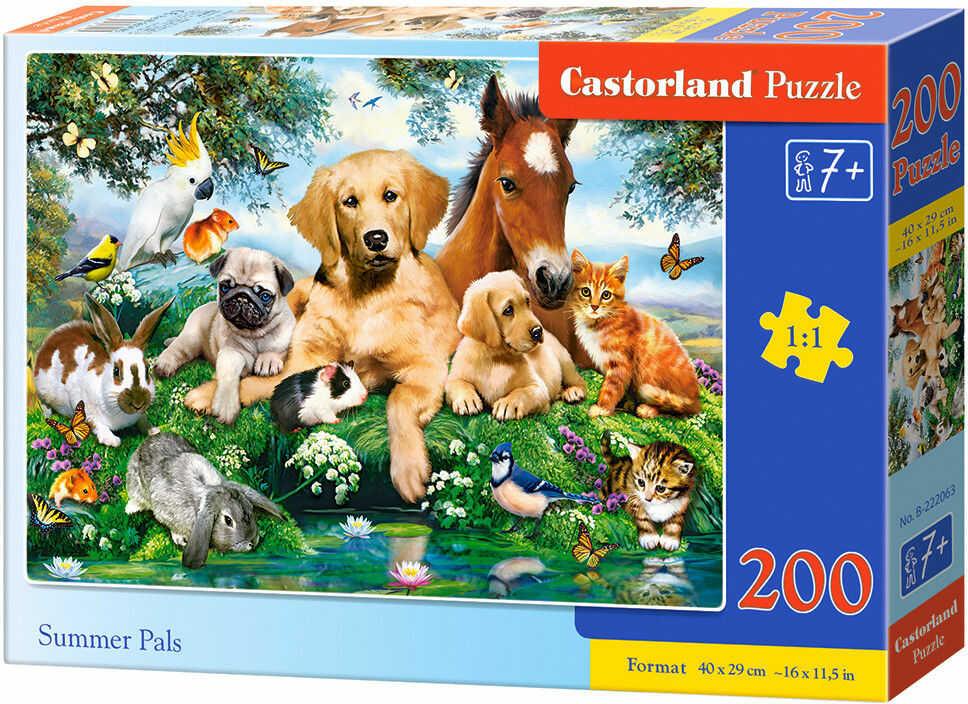 Puzzle Castorland 200 - Letni kumple, Summer Pals