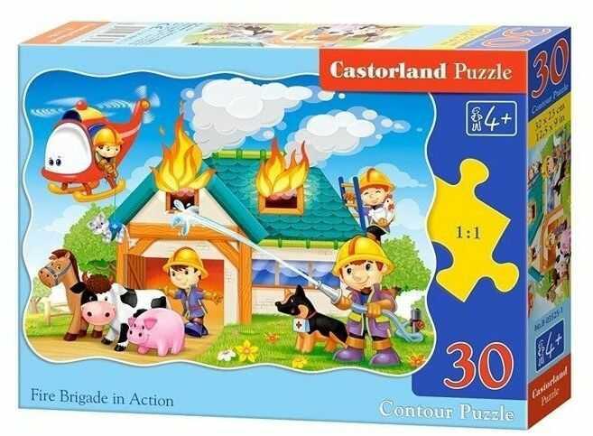 Puzzle 30 Strażacy w akcji CASTOR - Castorland